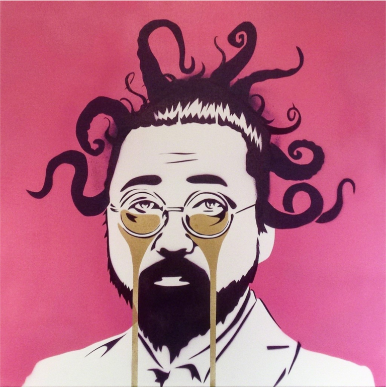 Self Portrait by Takashi Murakami depicting sadness and grief that reflects 'Life in the Time of Corona' by 8 in the Universe