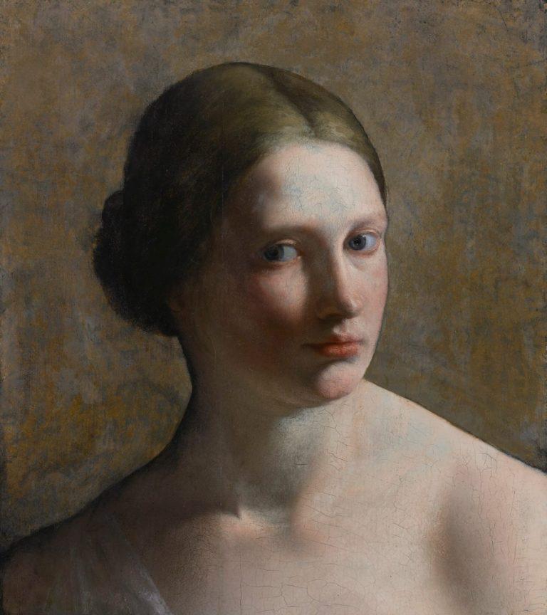 Head of a Woman by Orazio Gentileschi, 1636