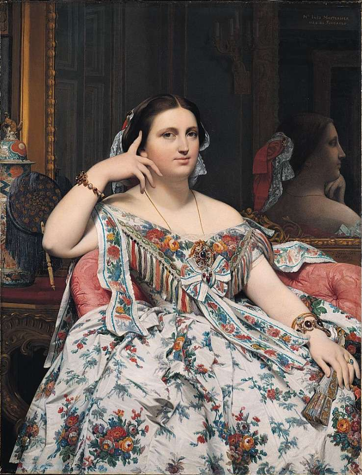 Madame Moitessier by Jean Auguste Dominique Ingres, 1856.